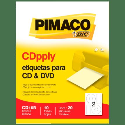 etiquetas pimaco cd10b