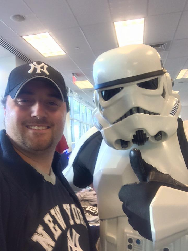 Brandon Lipani and Storm Trooper