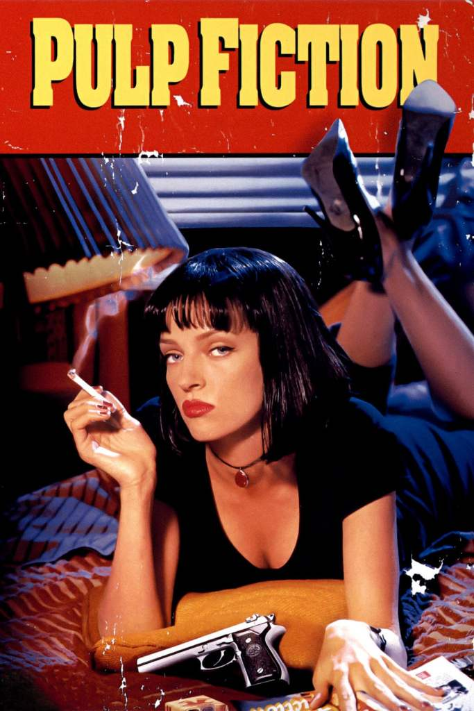 "Poster for the movie ""Pulp Fiction"""