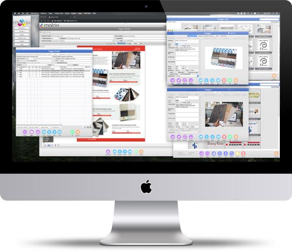 Content Management System (CMS) iMac Image