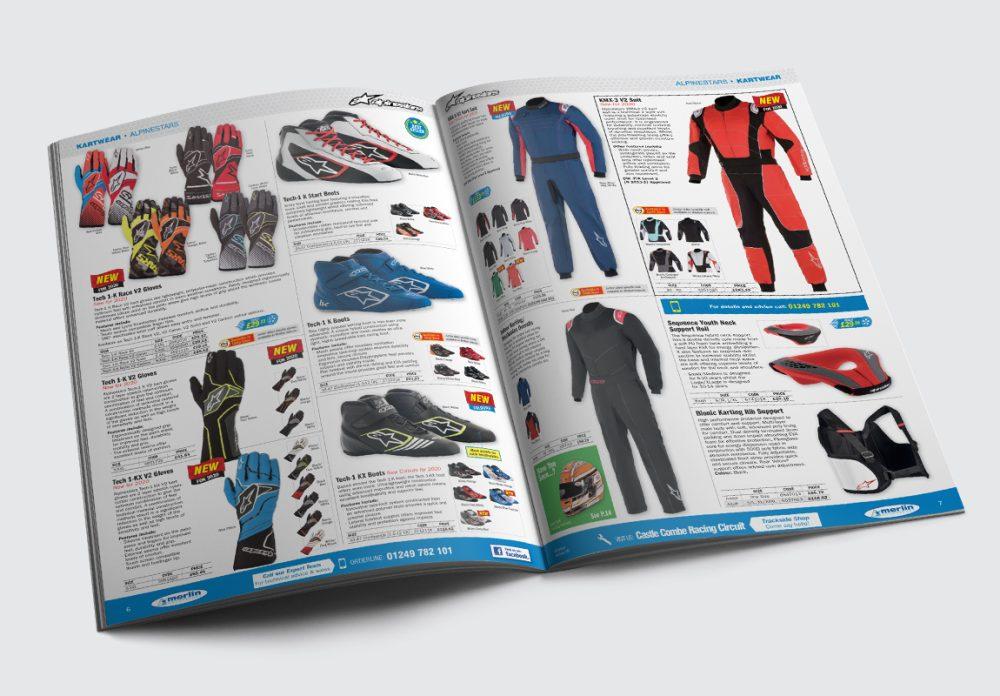 Merlin Motorsport Catalogue Kartwear Spread