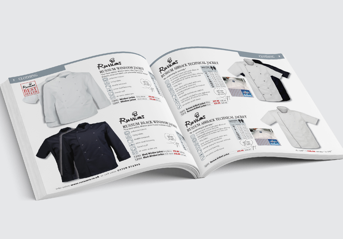 Russums Catalogue Clothing Spread 1