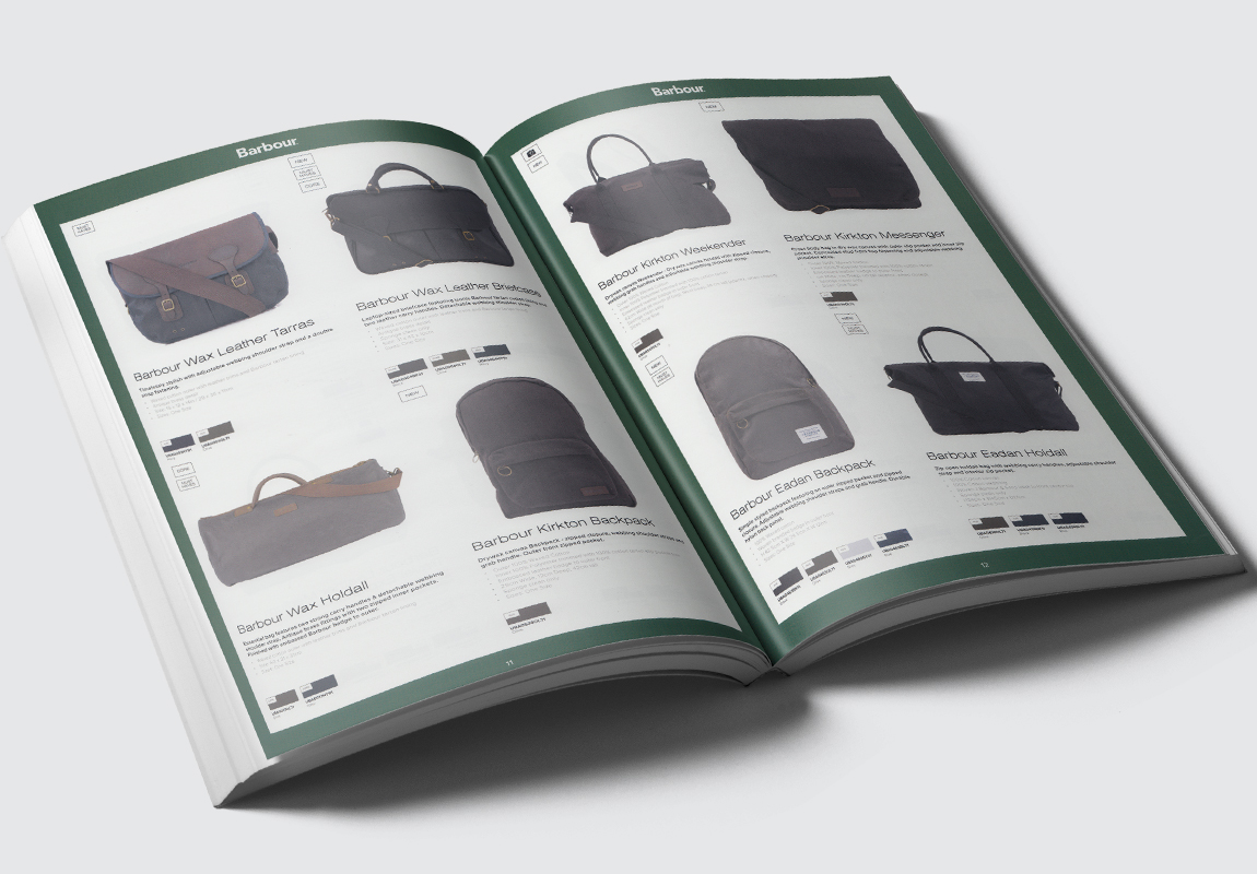 Barbour Accessories Catalogue Bags Spread