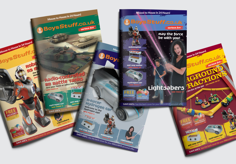 BoysStuff Brochure Cover Selection