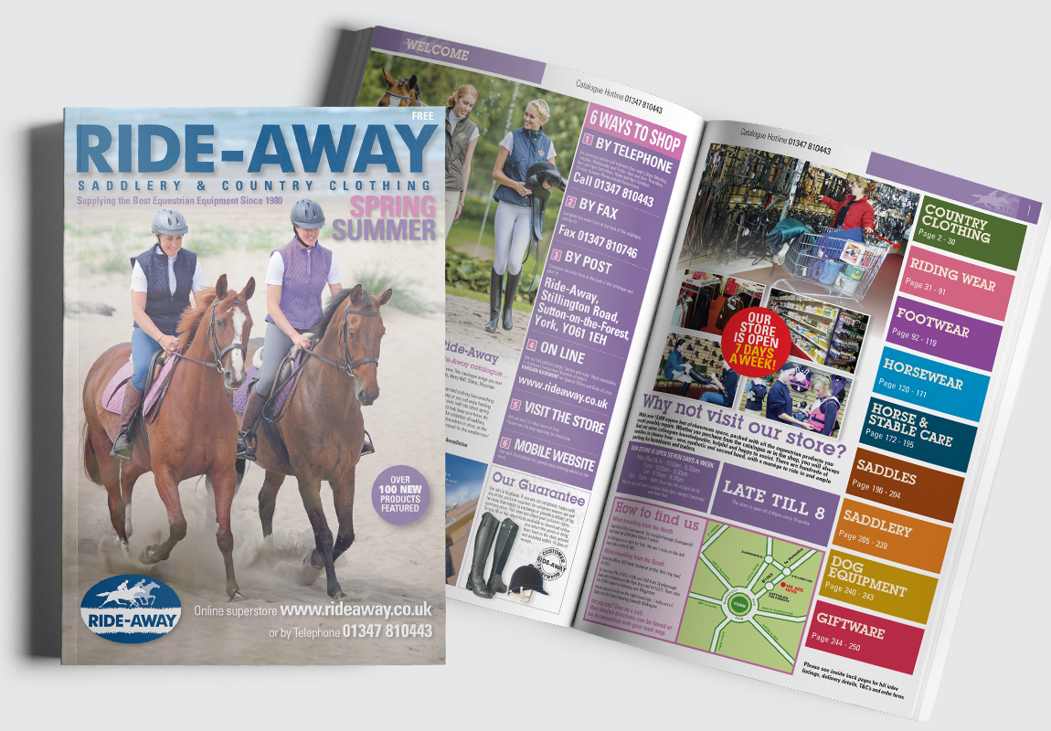 RideAway Catalogue Cover and Intro Spread
