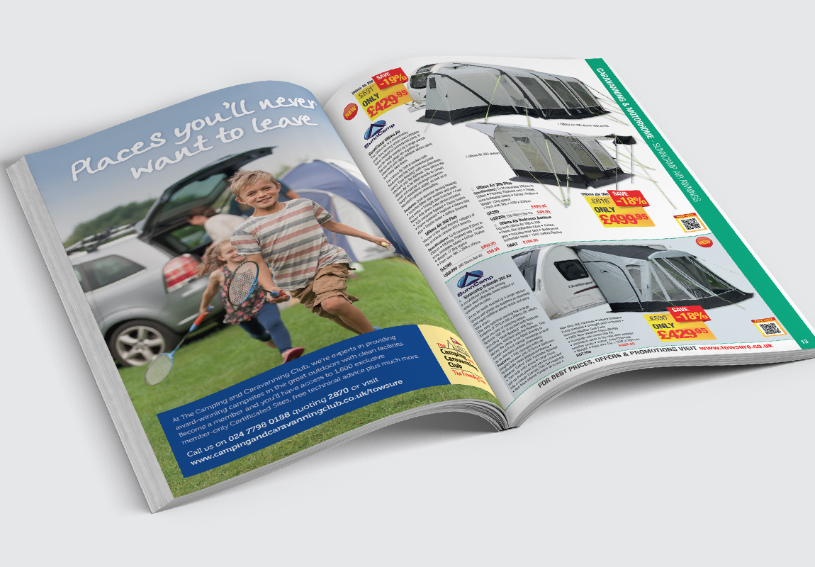 Towsure Catalogue Caravanning Spread