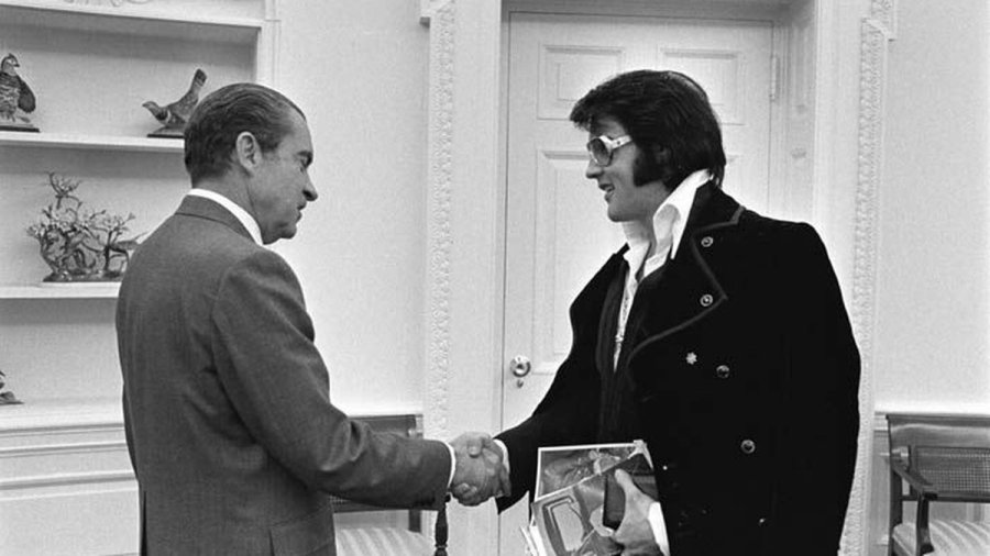 Famous Elvis and Nixon White House meeting
