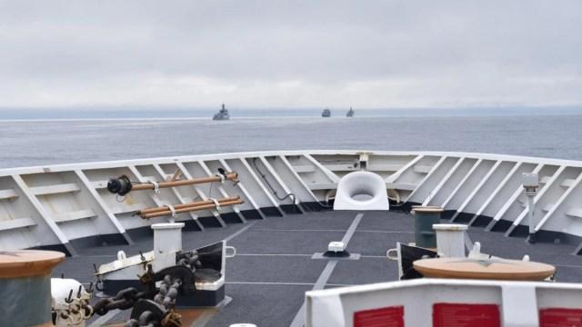The US Coast Guard encountered Chinese warships near Alaska's Aleutian Islands last month.