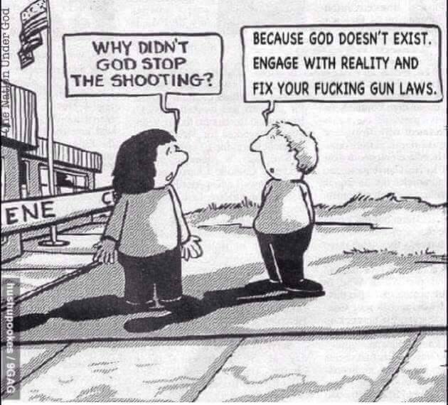 God doesn't stop shootings because there is no god. Fix the gun laws.