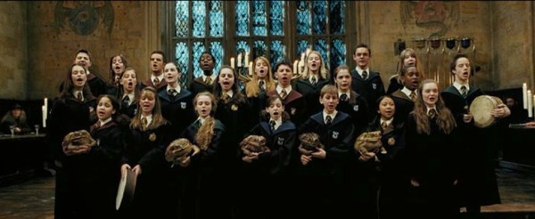 Toad choir at Hogwarts from The Prisoner of Azkaban. Thank you, J.K. Rowling for the books and Warner Brothers for the movies!