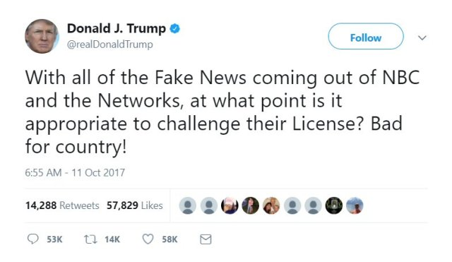 DJT threatens free press again.