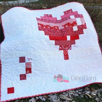 valentine's day mini quilt