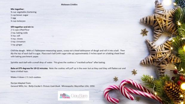 Molasses Cookies 11 25 18