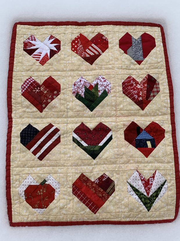red stains on a brand new quilt