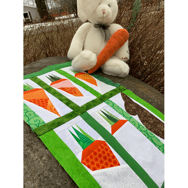 carrot and bunny pattern