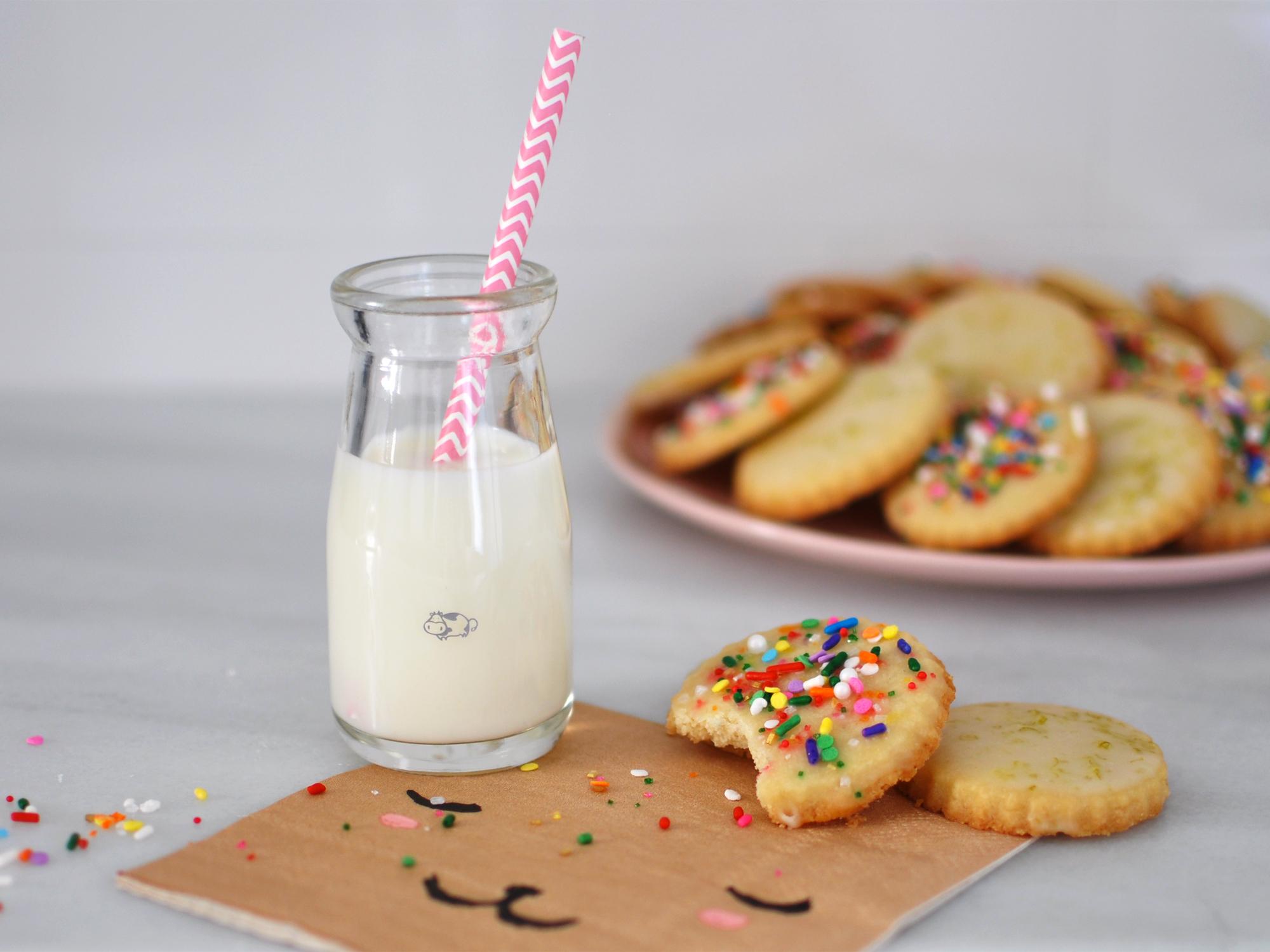 Shortbread Cookies: Lime & Sprinkles