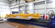Steel Profiling - MultiHead Oxyfuel CNC Cutter / 15 Tonne Suction Plate Lifter