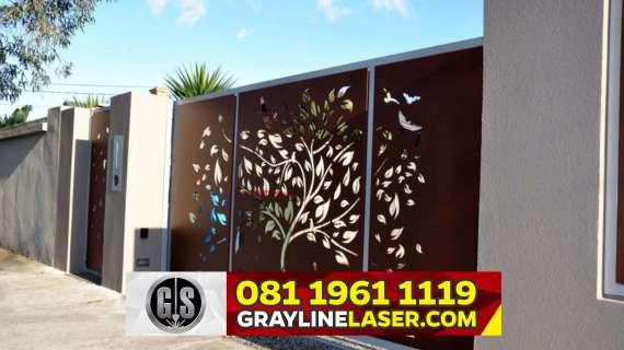 081 1961 1119 GRAYLINE LASER > Pintu Garasi Laser Cutting Jakarta Timur