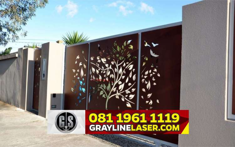 Pintu Garasi Laser Cutting Jakarta
