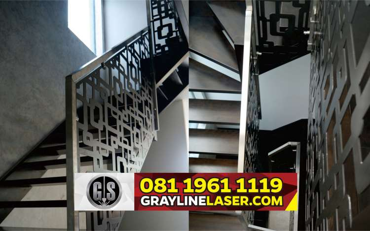 081 1961 1119 > GRAYLINE LASER | Railing Tangga Laser Cutting Pademangan
