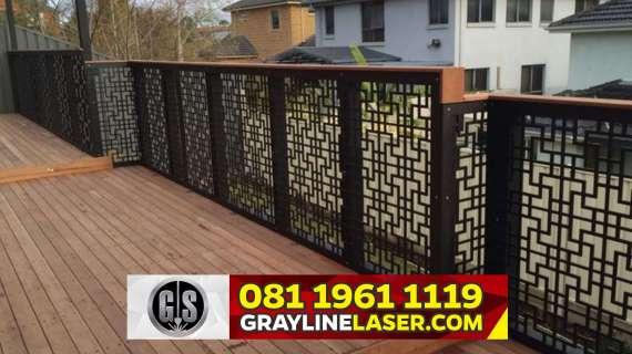 081 1961 1119 GRAYLINE LASER > Pintu Pagar Laser Cutting Jakarta Selatan