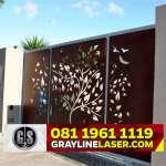 081 1961 1119 GRAYLINE LASER > Pintu Garasi Laser Cutting Tangerang