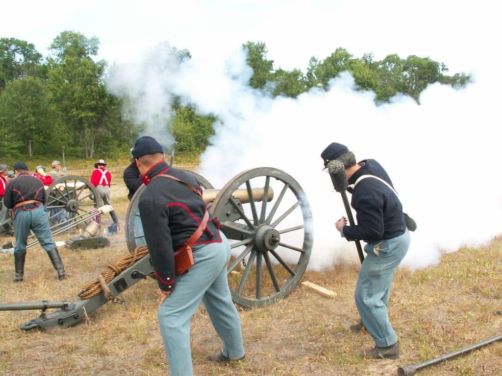Civil War Cannon Sunset