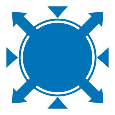 Gray Matters logo, blue