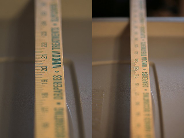 Sample photos depicting depth of field difference between a full frame and cropped frame camera sensor.