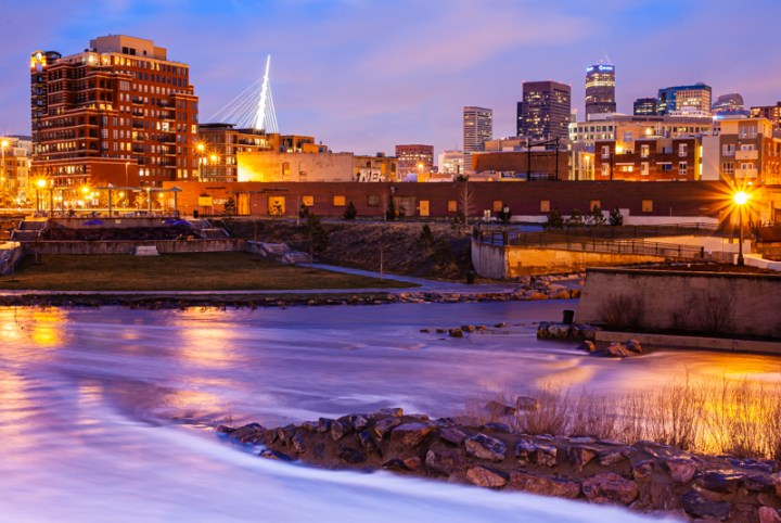 Night Photograph of downtown Denver
