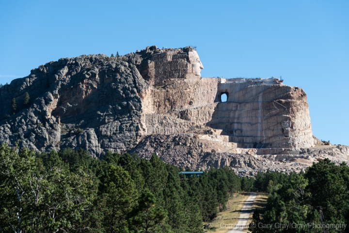 The partially completed Crazy Horse Memorial