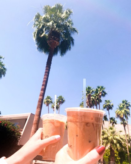 Pictures of iced lattes in palm springs