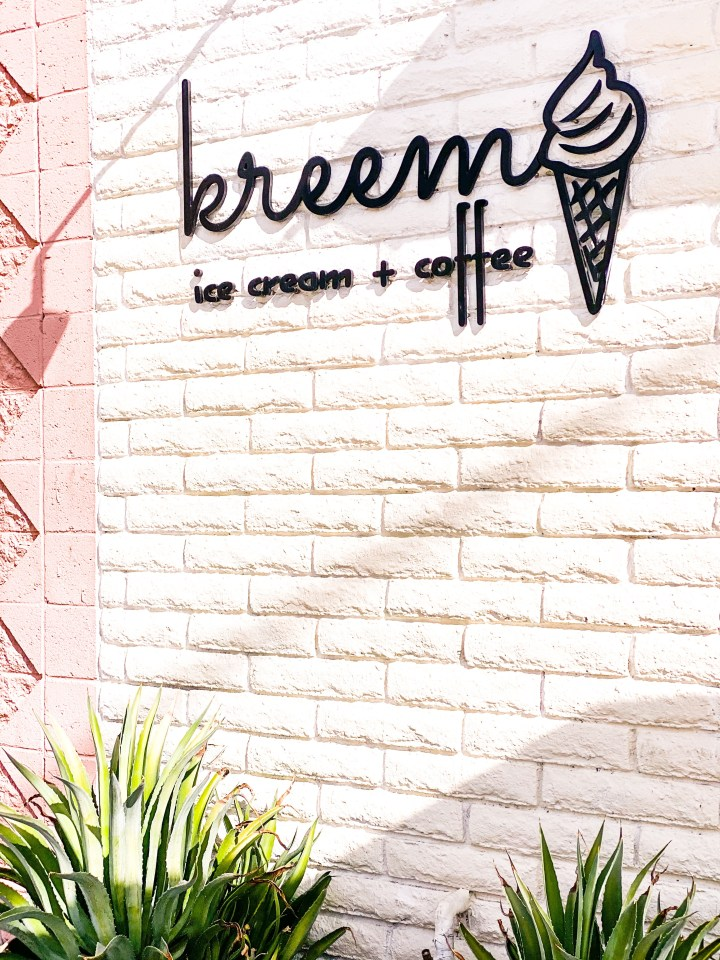 Picture of Kreem ice cream shop in palm springs