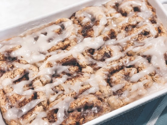 picture of fresh baked cinnamon rolls