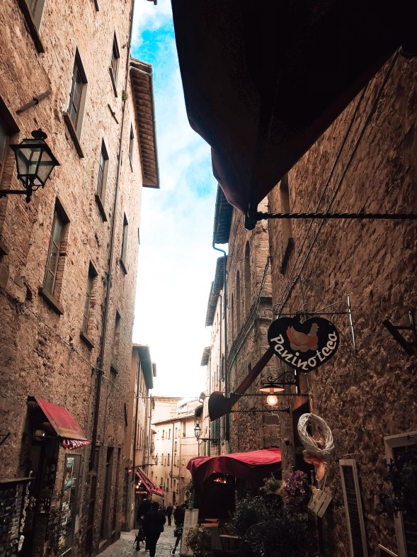 picture of the medieval streets of volterra in italy