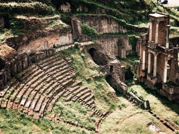 Picture of the roman theatre in Volterra Italy