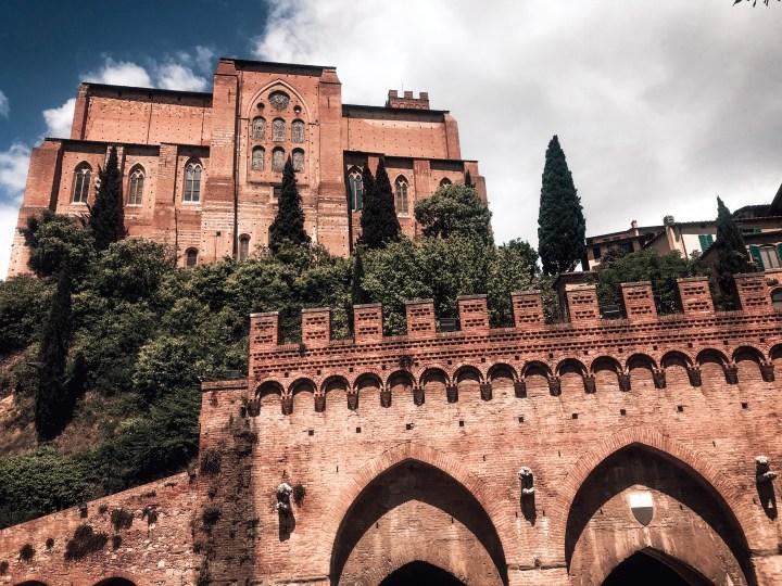 Buildings in Siena Italy