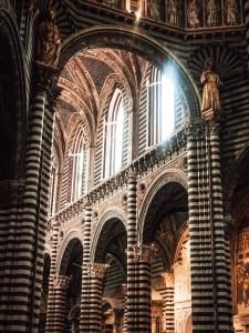 inside of a chapel in siena italy
