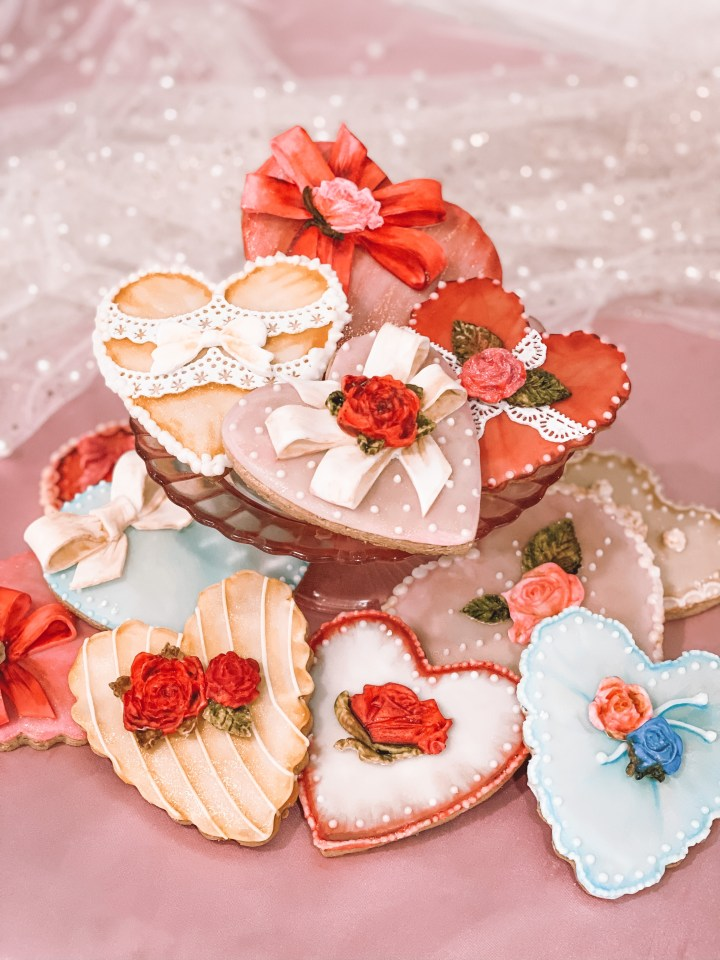 Vintage Valentine's Day Heart Candy Box Cookies