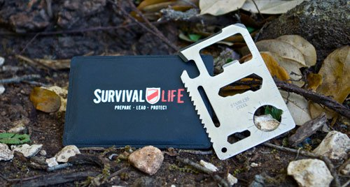 Survival business card