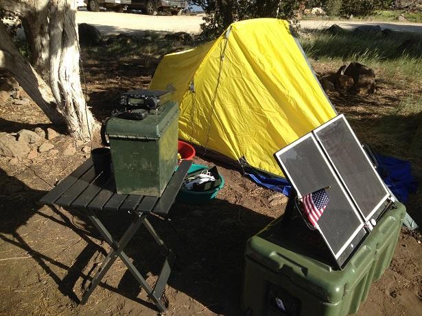 Camping Solar Setup