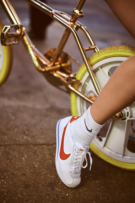 2009f73cae2688 Bella Hadid the face of Nike Cortez trainer 45th anniversary re ...