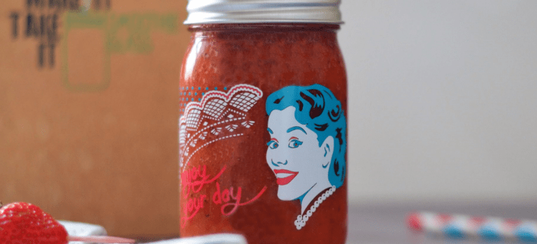 Erdbeer-Kiwi-Smoothie