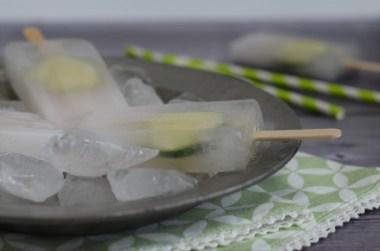 Heute habe ich ein leckeres GinTonic-Eis am Stiel für euch.