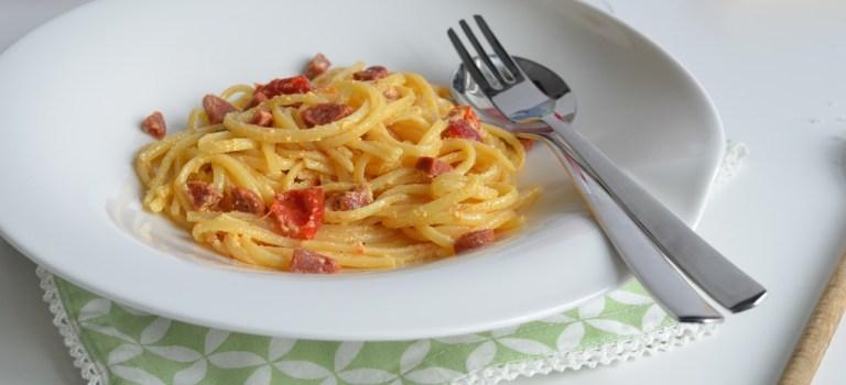 Für jeden Tag: Pasta mit Chorizo-Carbonara