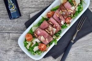 Soulfood: Tagliata auf Rucola-Salat mit bestem Balsamico & Olivenöl