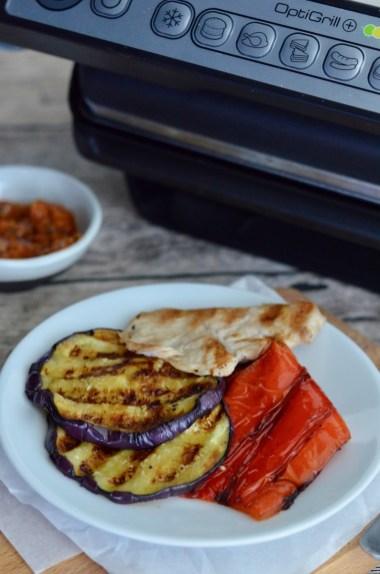 Panini mit Grillgemüse und Putenbrust