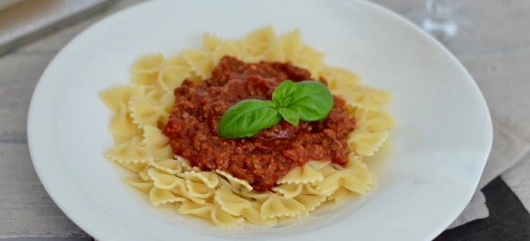 Für jeden Tag: Pasta mit Bolognese-Sauce