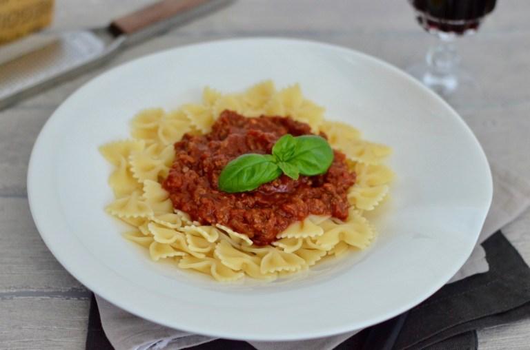 Pasta mit Bolognese-Sauce