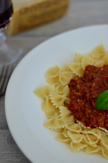Pasta mit Bolognese-Sauce